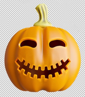3d render of pumpkin on transparent background,clipping path