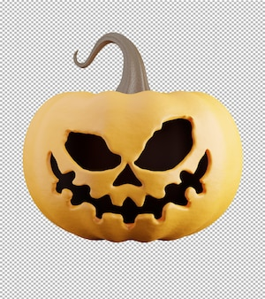 3d render of pumpkin with transparent background for product display