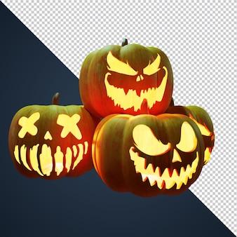 3d render pumpkins halloween element for event poster and flye
