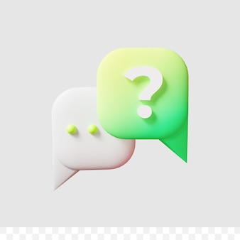 3d render question icon