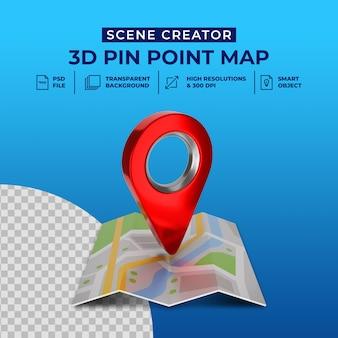 3d 렌더링 빨간지도 포인터 아이콘 격리 된 장면 작성자