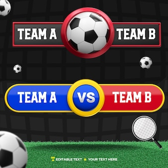 3d визуализация табло для командных соревнований