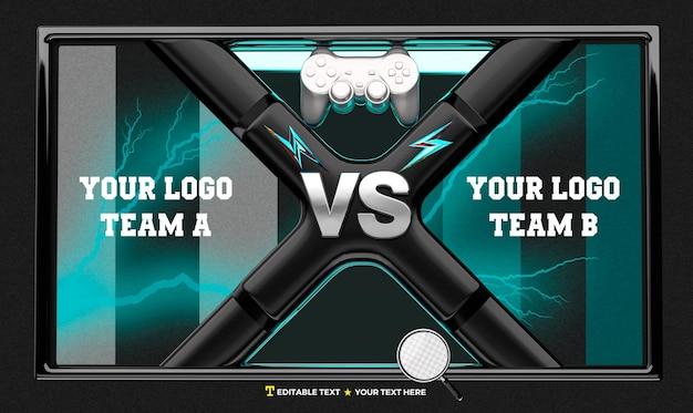 3d render scoreboard for gamer team competition