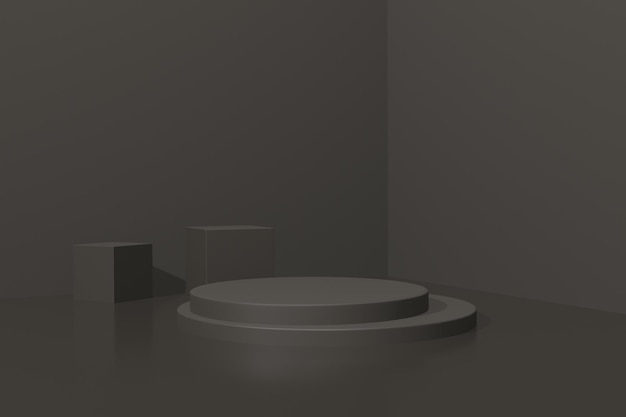 Produst 광고를위한 3d 렌더링 간단한 연단