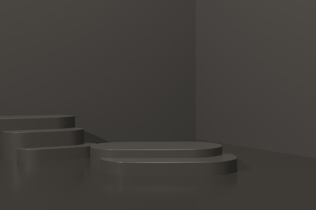3d render simple podium for product presentation