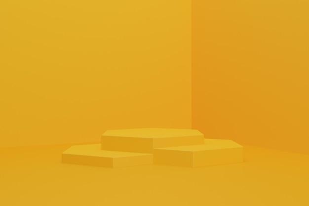 3d render simple podium