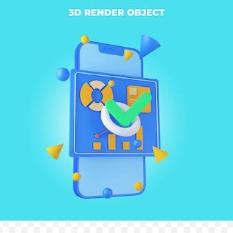 3d 렌더링 스마트폰 및 infographic