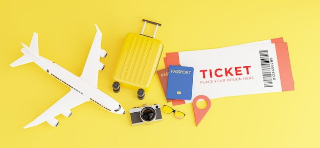 3d render of smartphone with tourism concept mockup design Premium Psd