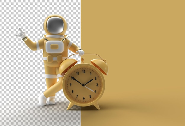 3d визуализация космонавт-космонавт с будильником