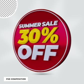 3d визуализация летняя распродажа скидка продвижение изолированы