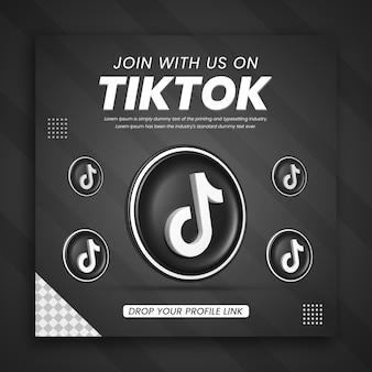 3d render tiktok business promotion for a social media post design