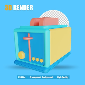 3d рендер тостер