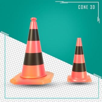 3d визуализация дорожного конуса