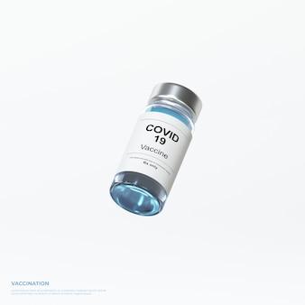 3d render vaccination coronavirus vaccine