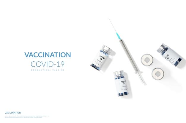 3d визуализация вакцинация вакцина против коронавируса