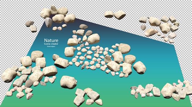 3d визуализация различных каменных траекторий