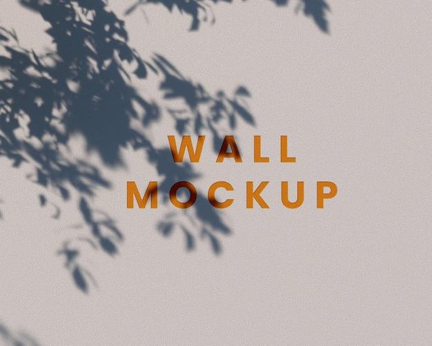 3d render wall mockup