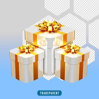 3d визуализация белая подарочная коробка