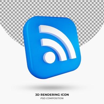 Объект значка wi-fi 3d-рендеринга
