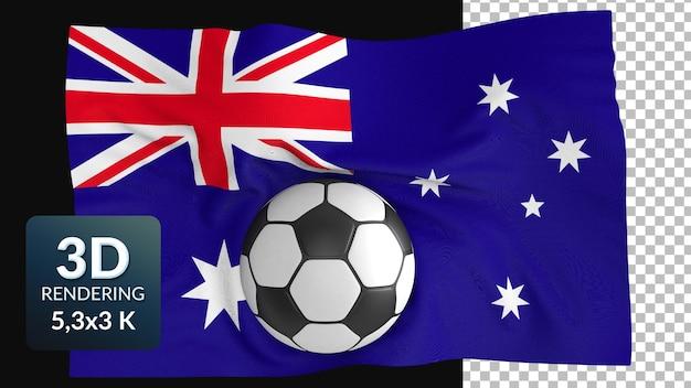 3d визуализация мировой флаг футбол футбол
