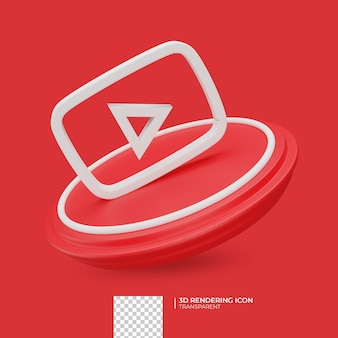 3d визуализация дизайн иконок youtube