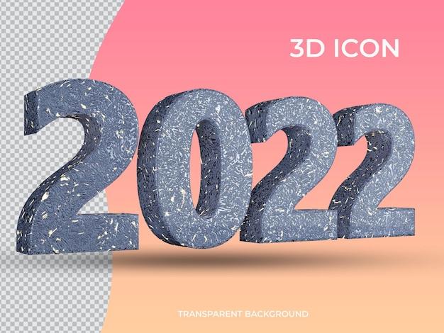 3d 렌더링 2021 3d 투명 텍스트 아이콘 디자인 왼쪽 보기
