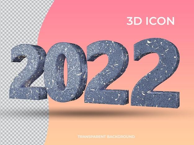 3d 렌더링 2021 3d 투명 텍스트 아이콘 디자인 측면보기
