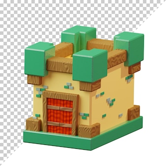 3d визуализации мультфильм замка