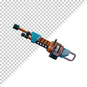 3d визуализации мультфильм пистолета