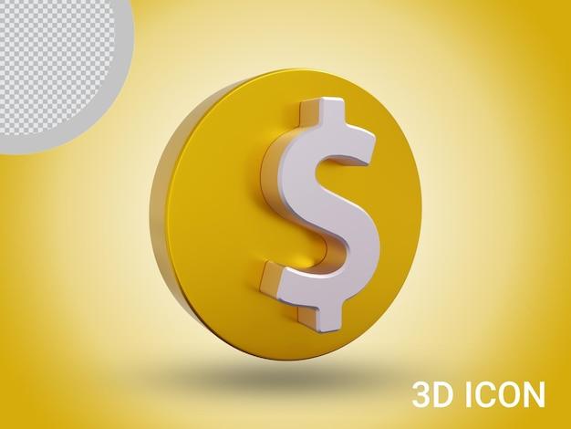 3d визуализация дизайн иконок знак доллара