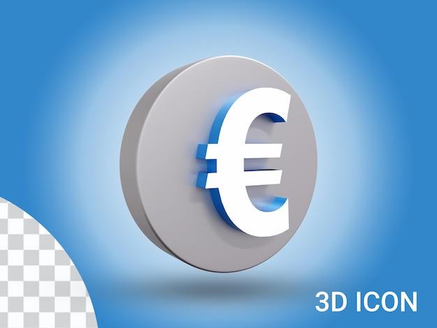 3d визуализация дизайн иконок евро