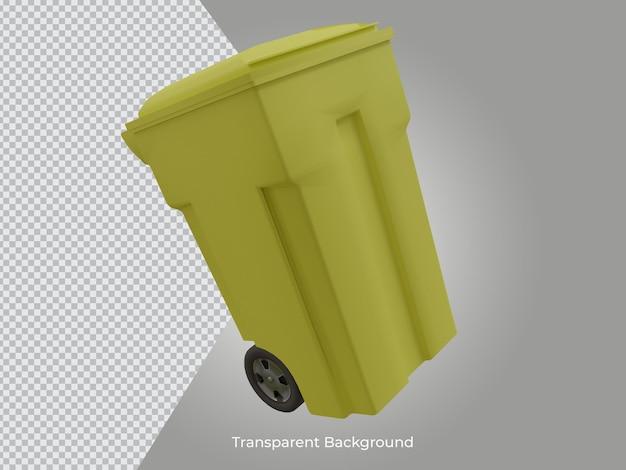 3d 렌더링 된 고품질 쓰레기통 투명 아이콘 격리 된보기