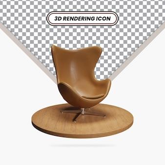 Значок стула изометрические яйца 3d визуализации