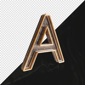 3d визуализации металлическая буква a