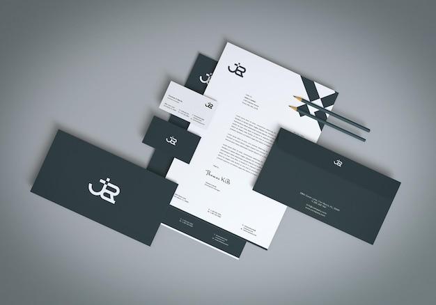 3d 렌더러 편지지 세트 모형 디자인