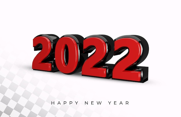 3d rendering of 2022 text effect