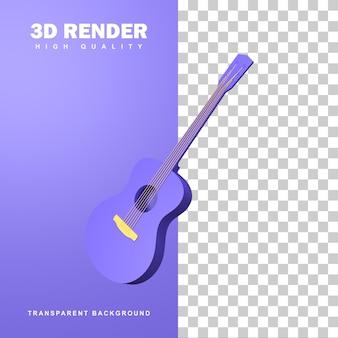 3d rendering acoustic guitar.