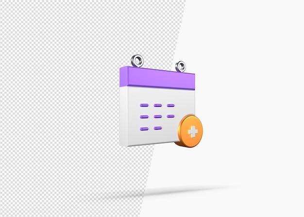 3d 렌더링 연례 검진 개념 아이콘