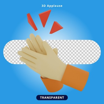 3d rendering applause illustration