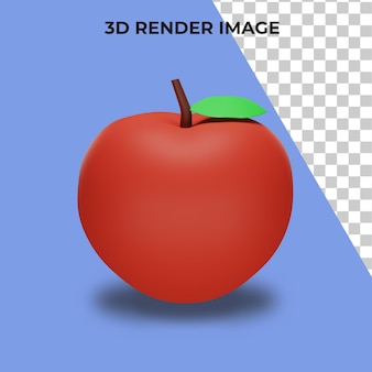 3d rendering of apples premium psd