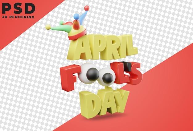 3d rendering of april fool's day design
