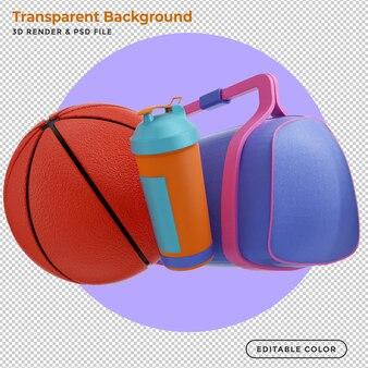 3d 렌더링 농구 장비