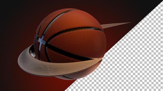 3dレンダリングバスケットボールのグラフィックデザイン