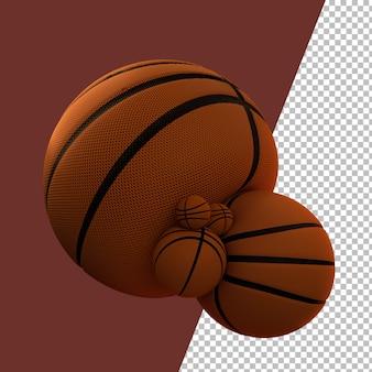 3dレンダリングバスケットボールグラフィック