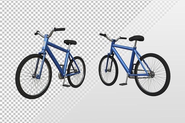 さまざまな視点からの自転車の3dレンダリング