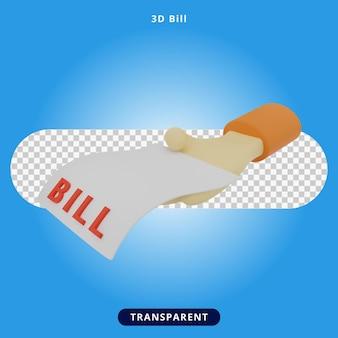 3d визуализация билл и руки иллюстрация