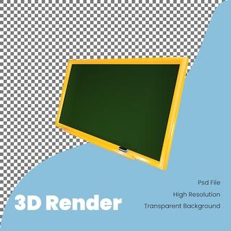 Значок доски 3d рендеринга для иллюстрации обратно в школу