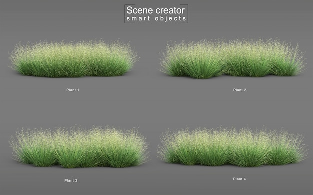 3d rendering of blonde ambition blue grama grass scene creator
