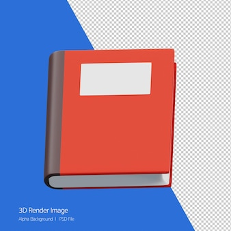 3d rendering of book icon isolated on white.