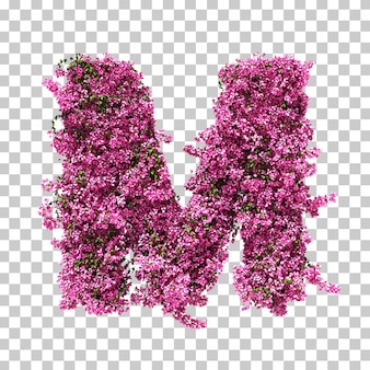 3d rendering of bougainvillea letter m